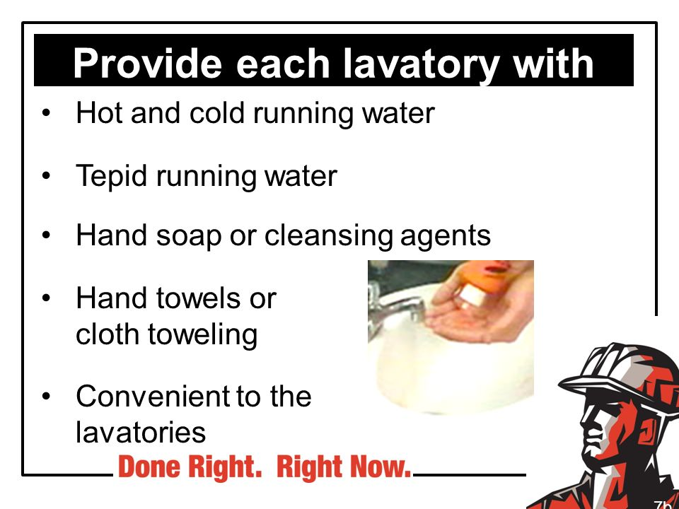 Provide each lavatory with