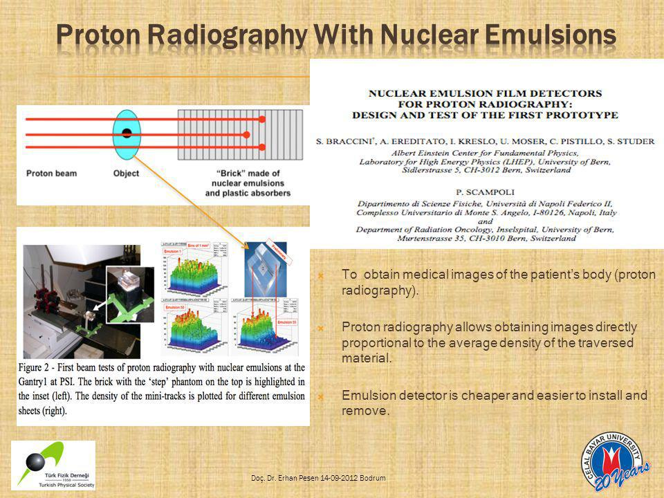 Proton Radiography With Nuclear Emulsions