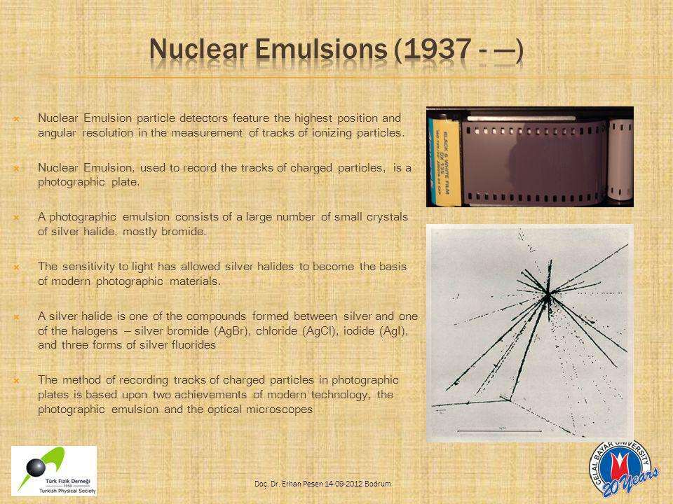 Nuclear Emulsions (1937 - ---)