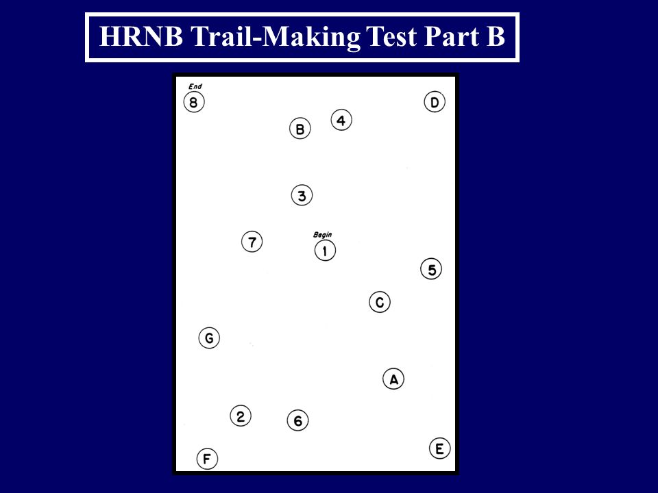 HRNB Trail-Making Test Part B