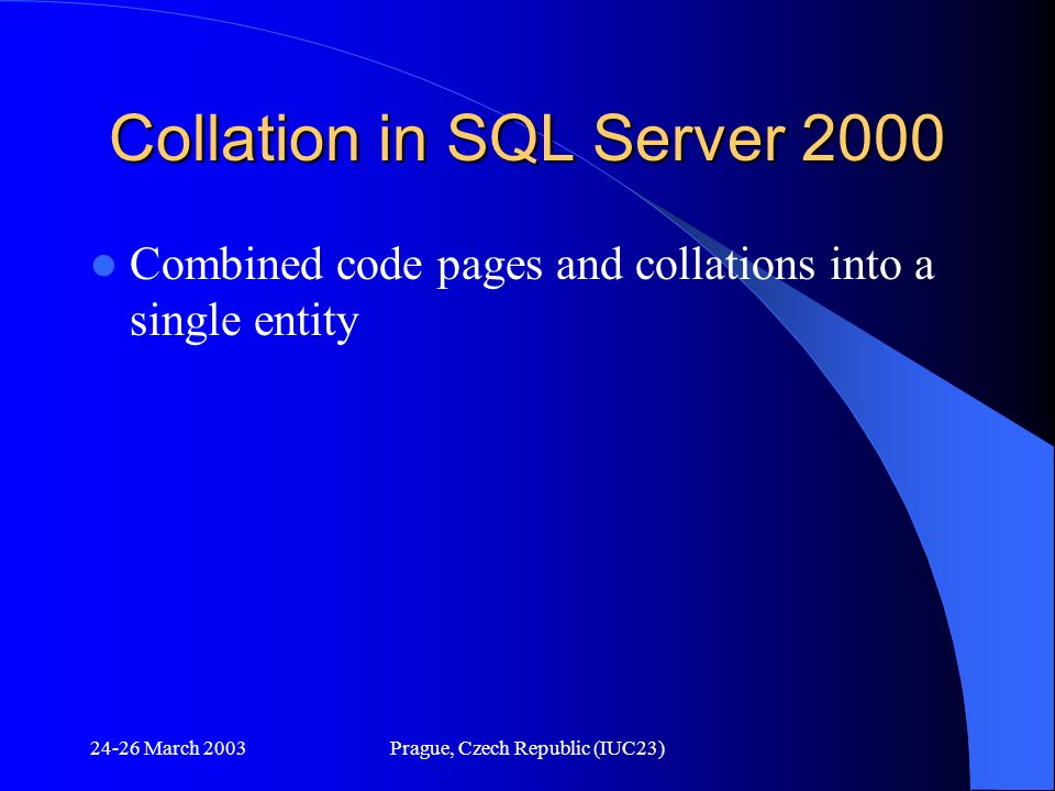 Collation in SQL Server 2000