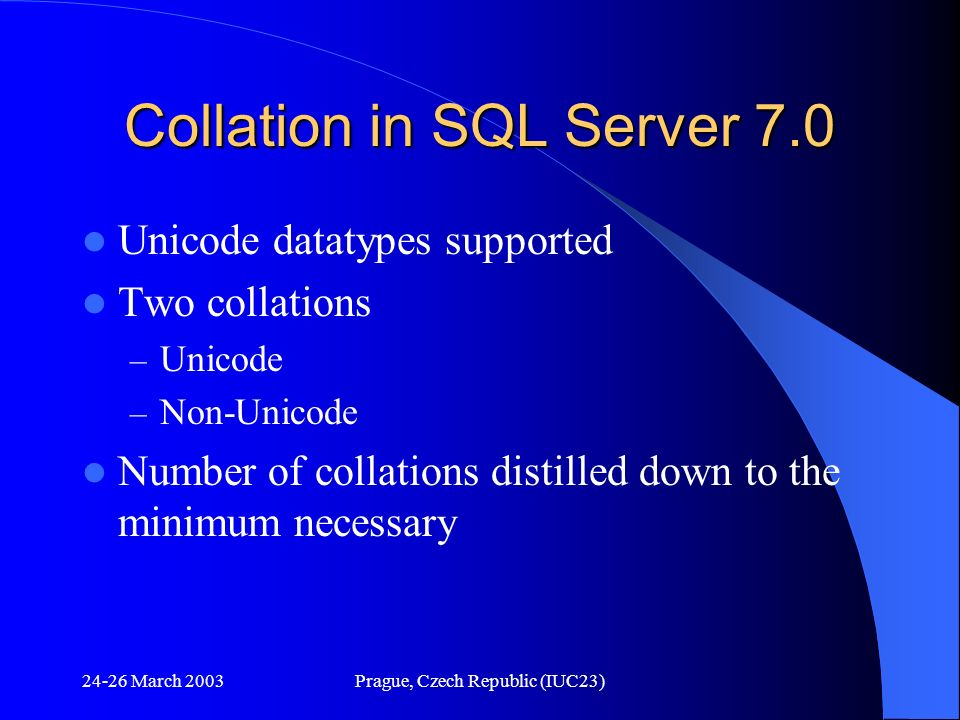 Collation in SQL Server 7.0