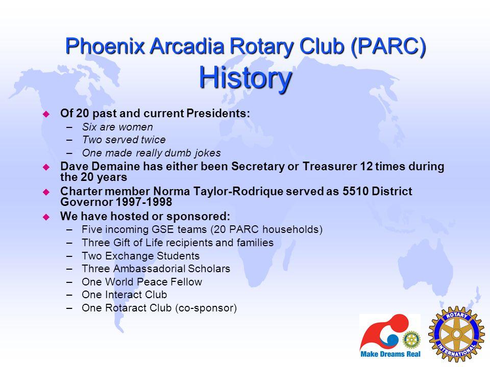 Phoenix Arcadia Rotary Club (PARC) History