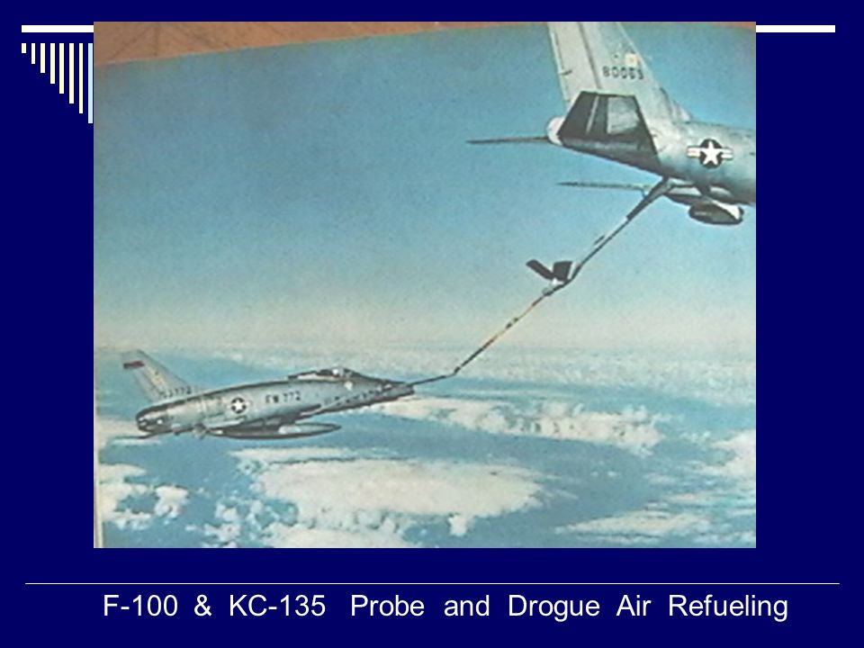 F-100 & KC-135 Probe and Drogue Air Refueling