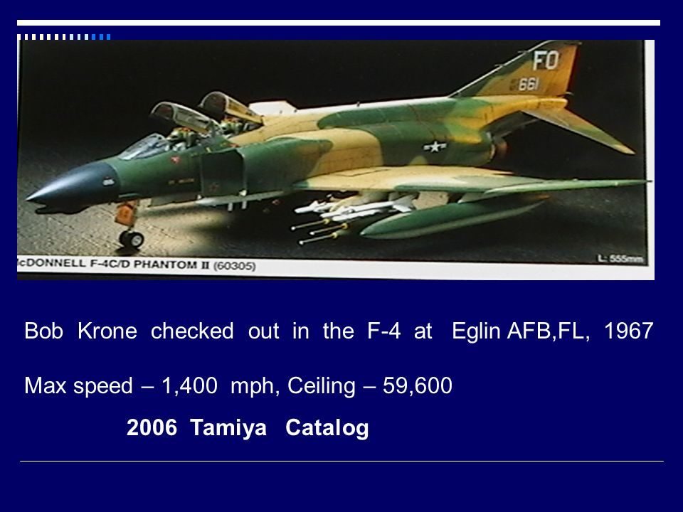 Bob Krone checked out in the F-4 at Eglin AFB,FL, 1967
