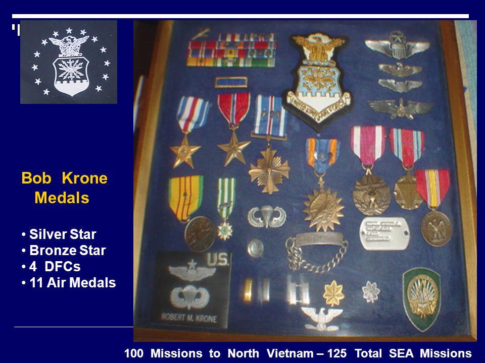 Bob Krone Medals Silver Star Bronze Star 4 DFCs 11 Air Medals