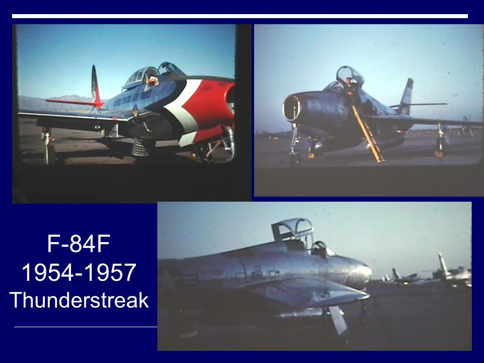 F-84F 1954-1957. Thunderstreak.