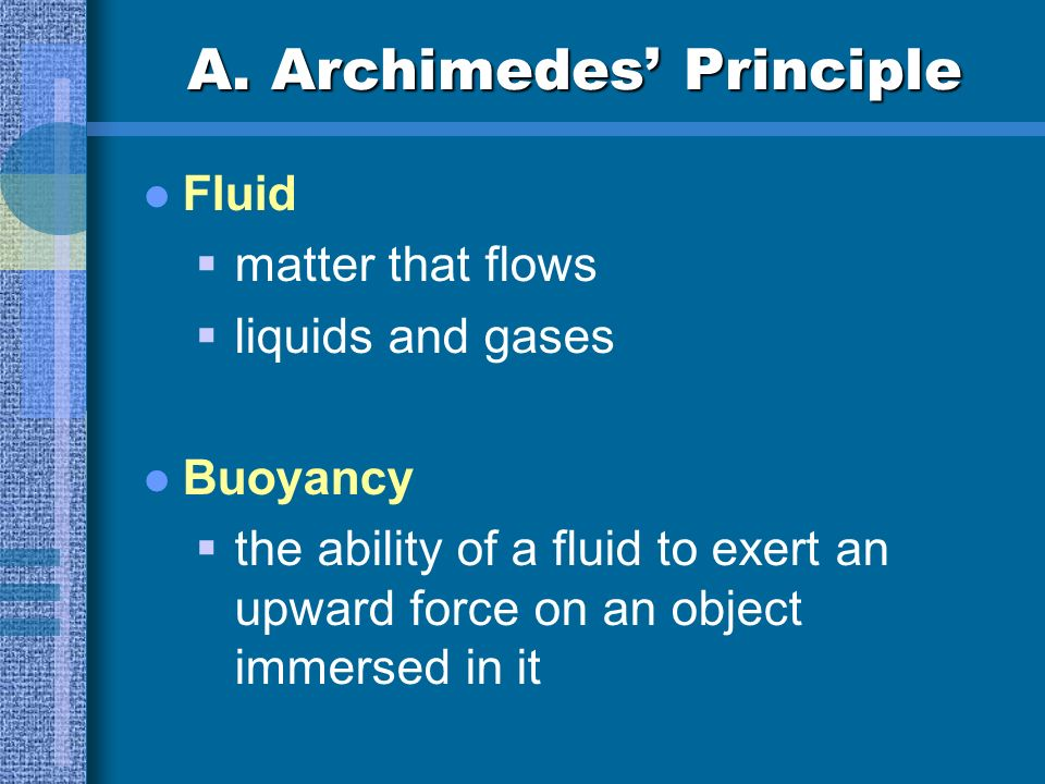 A. Archimedes' Principle