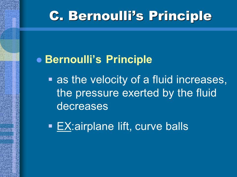 C. Bernoulli's Principle