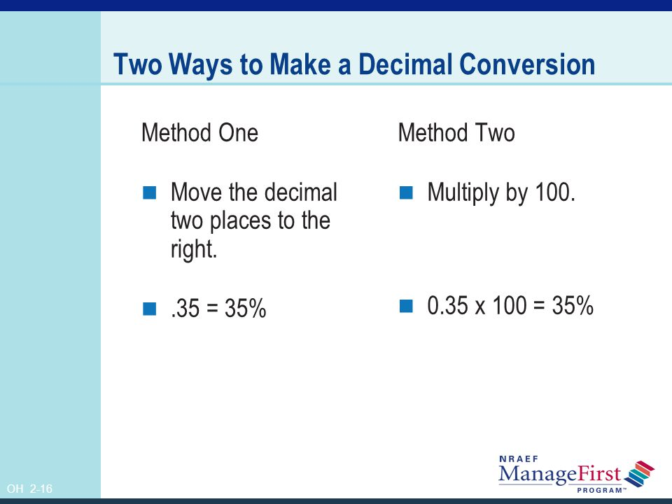 Two Ways to Make a Decimal Conversion