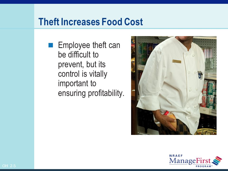 Theft Increases Food Cost