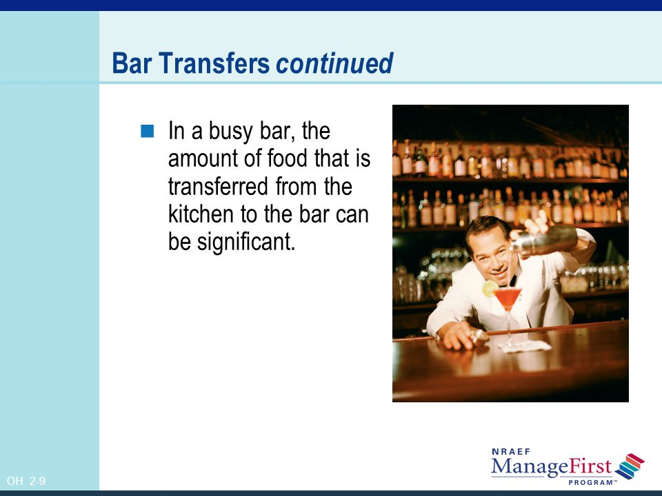 Bar Transfers continued
