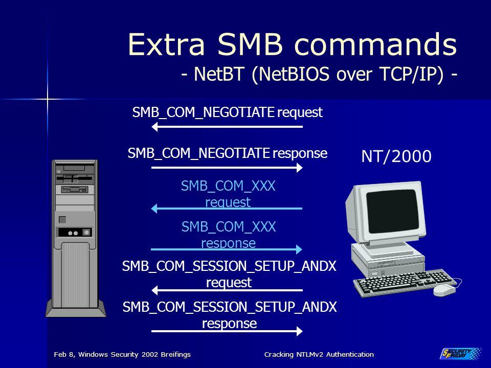 Extra SMB commands - NetBT (NetBIOS over TCP/IP) -