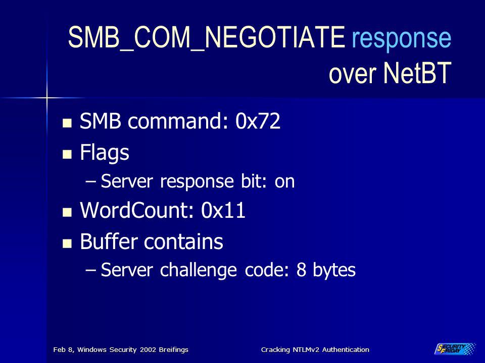 SMB_COM_NEGOTIATE response over NetBT