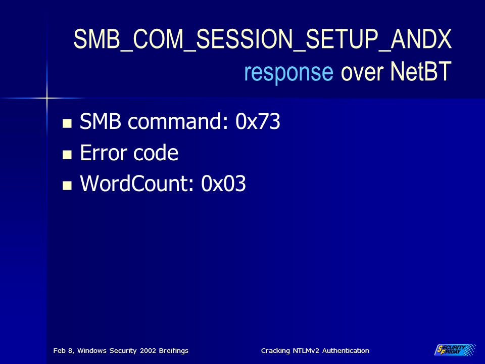 SMB_COM_SESSION_SETUP_ANDX response over NetBT