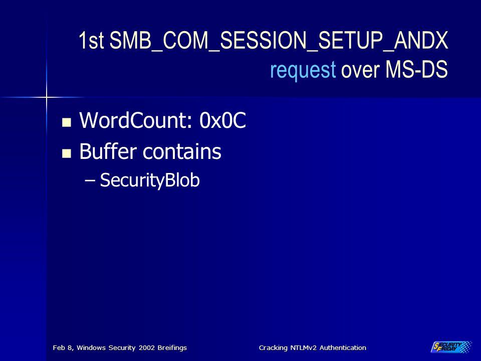 1st SMB_COM_SESSION_SETUP_ANDX request over MS-DS