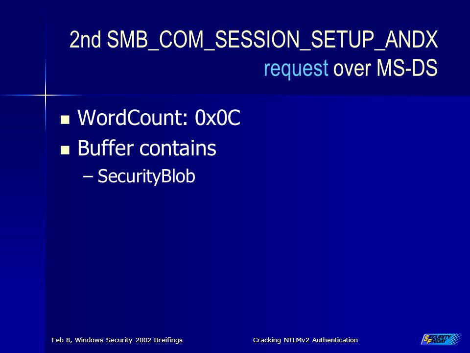 2nd SMB_COM_SESSION_SETUP_ANDX request over MS-DS