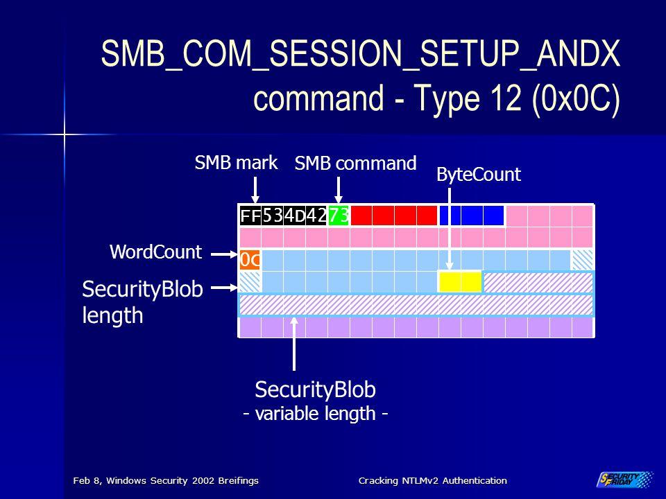 SMB_COM_SESSION_SETUP_ANDX command - Type 12 (0x0C)