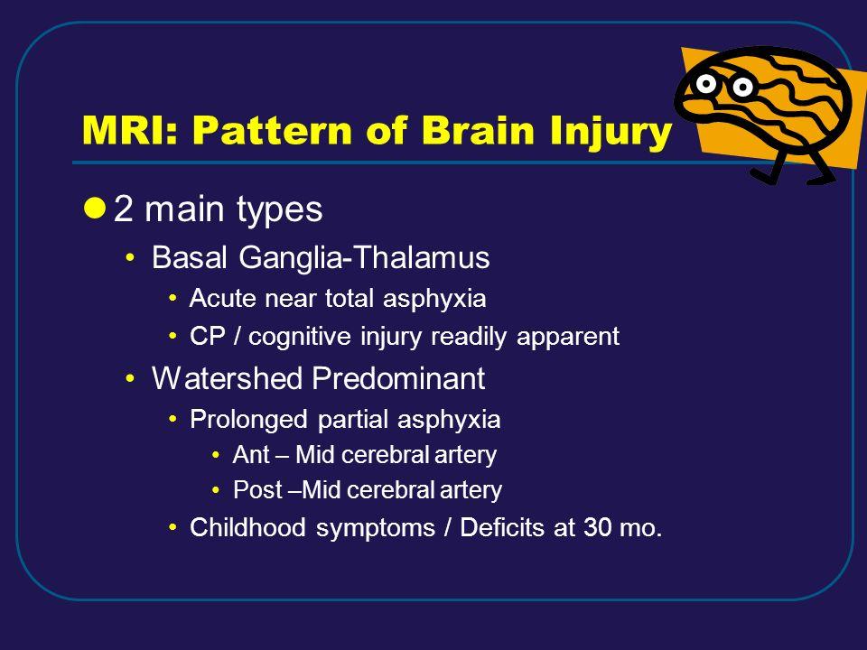 MRI: Pattern of Brain Injury