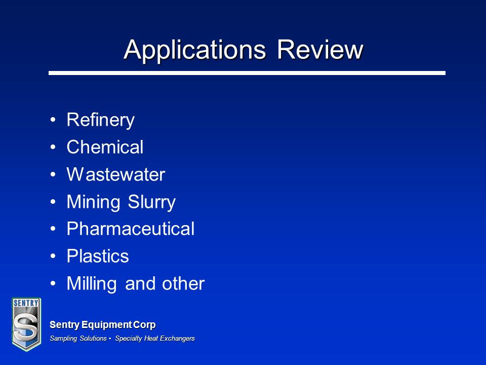 Applications Review Refinery Chemical Wastewater Mining Slurry