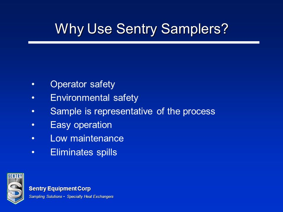 Why Use Sentry Samplers