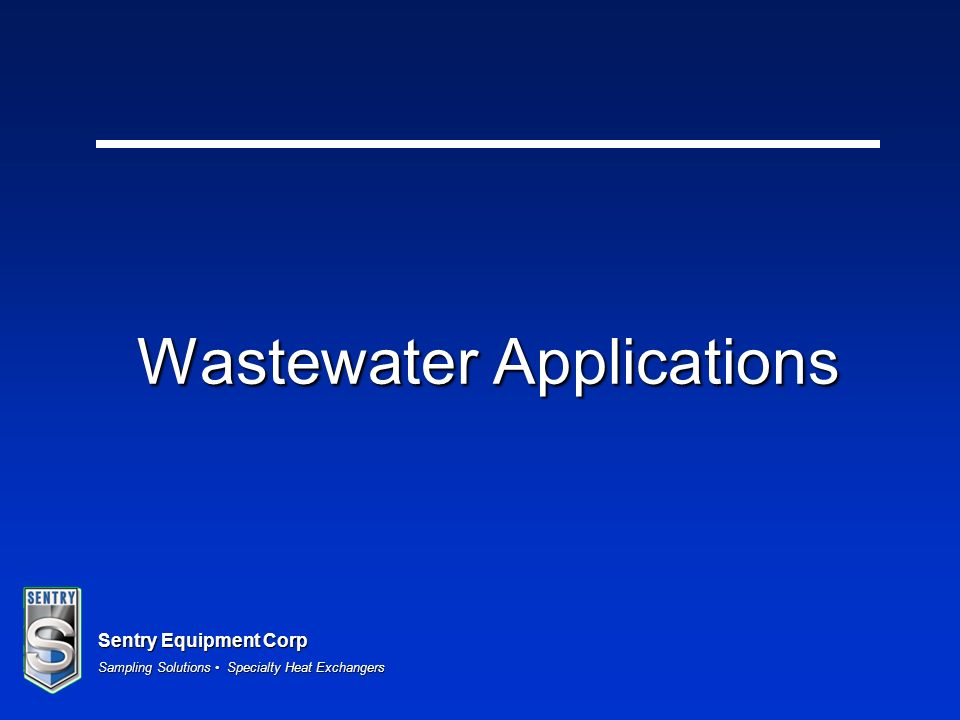 Wastewater Applications