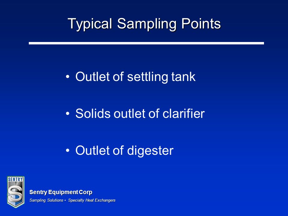 Typical Sampling Points