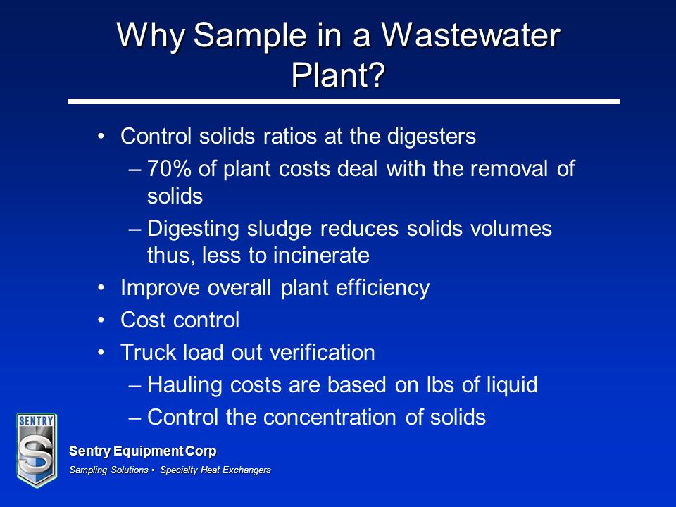 Why Sample in a Wastewater Plant