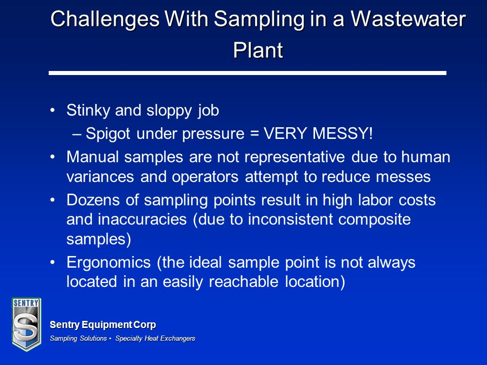 Challenges With Sampling in a Wastewater Plant