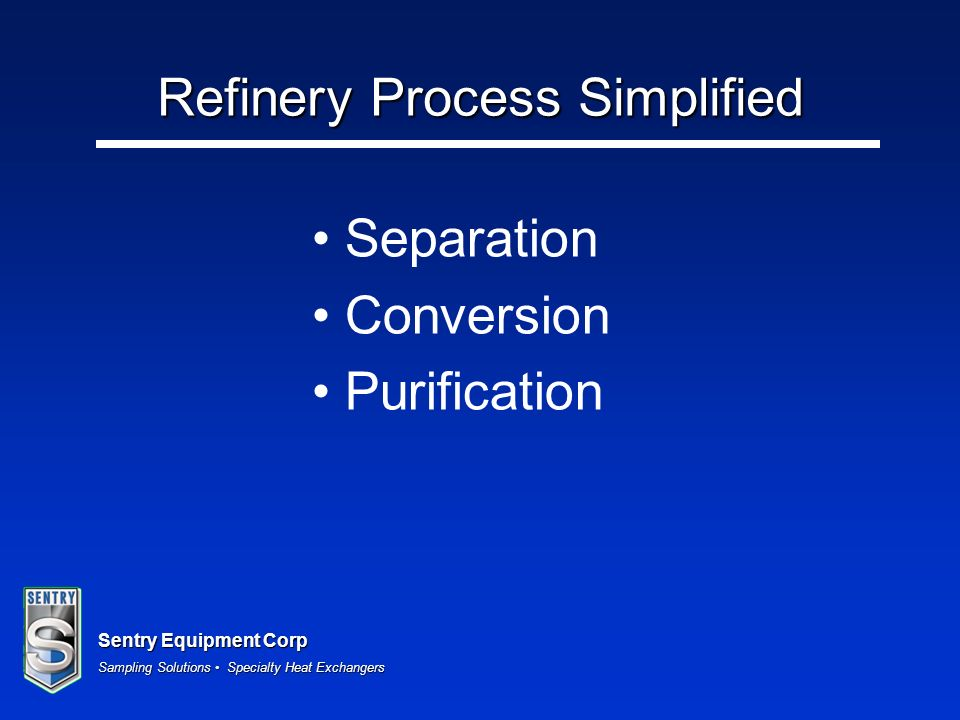 Refinery Process Simplified