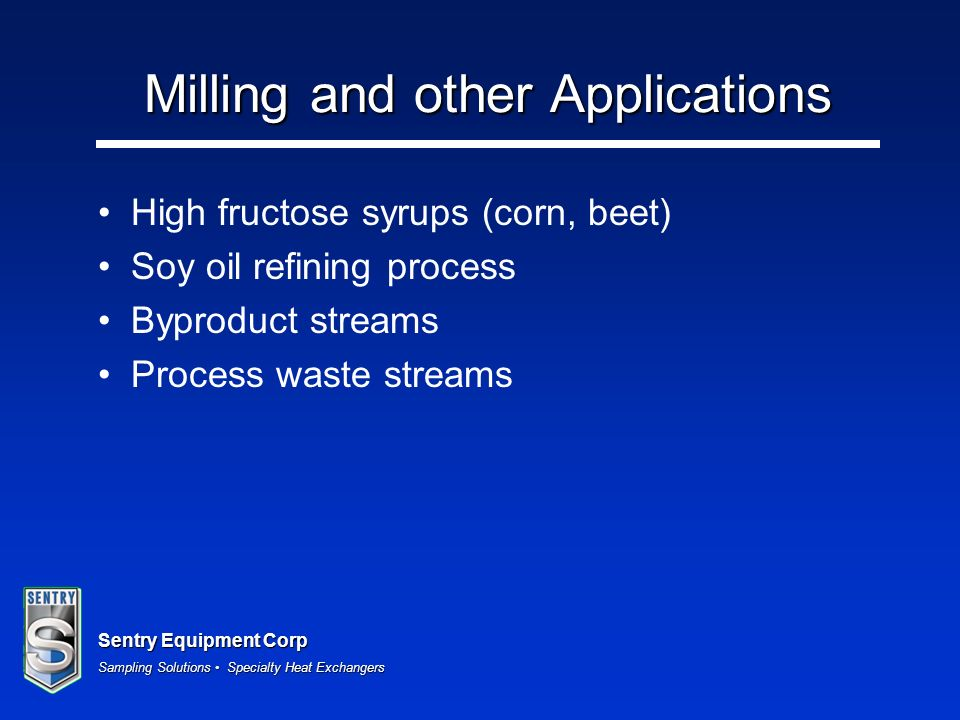 Milling and other Applications