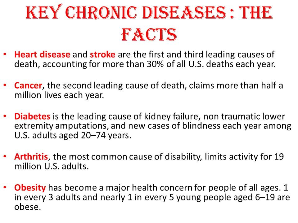 Key Chronic Diseases : The Facts