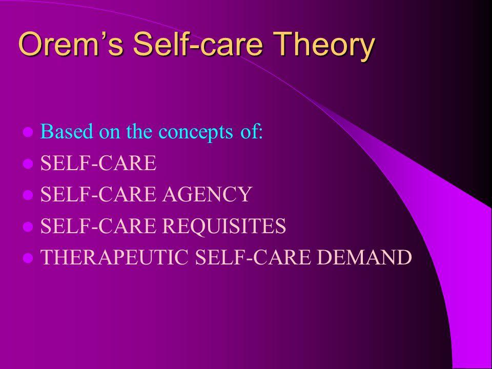 Orem's Self-care Theory