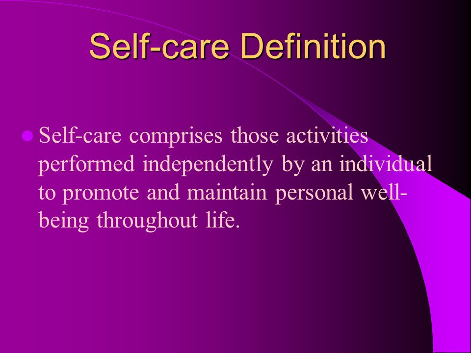 Self-care Definition