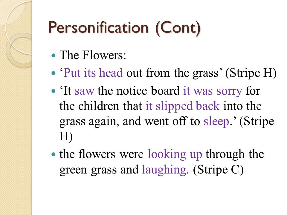 Personification (Cont)