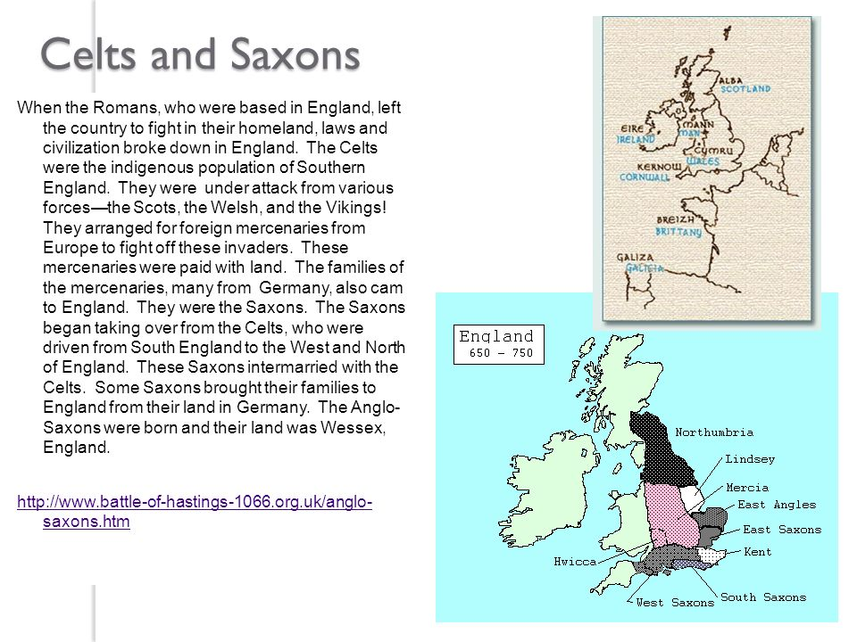 Celts and Saxons