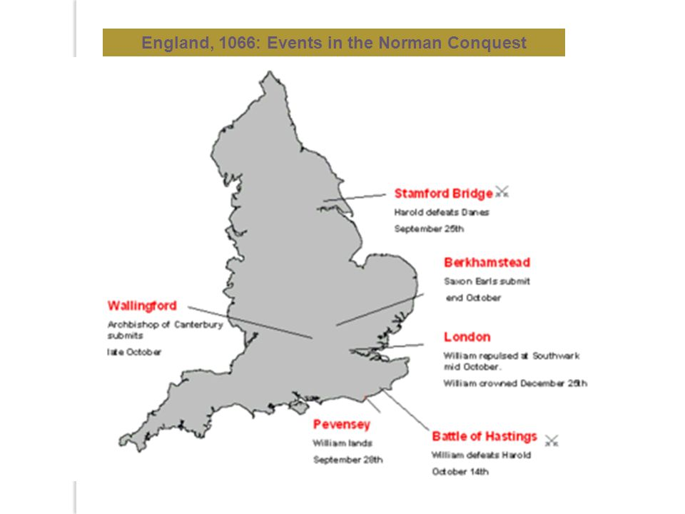England, 1066: Events in the Norman Conquest