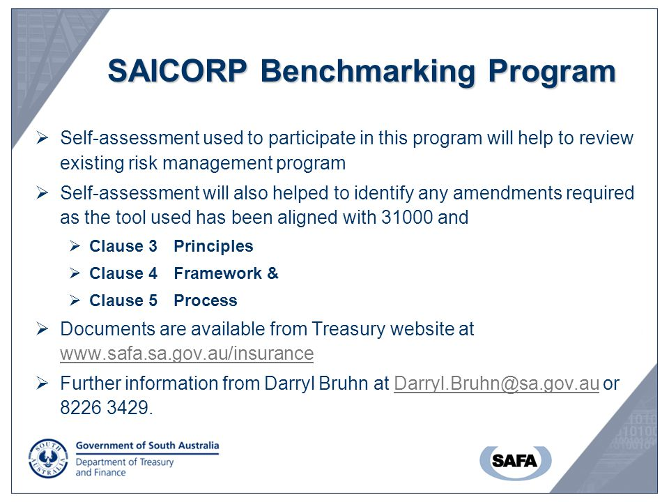 SAICORP Benchmarking Program