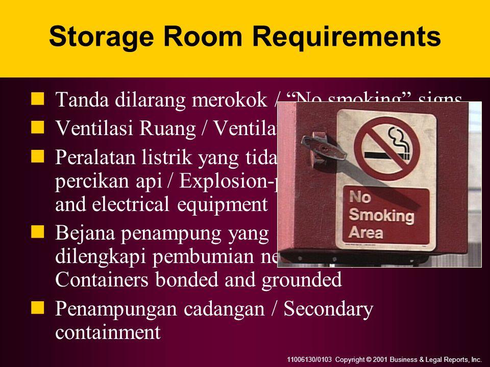 Storage Room Requirements