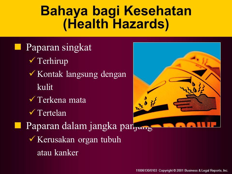 Bahaya bagi Kesehatan (Health Hazards)