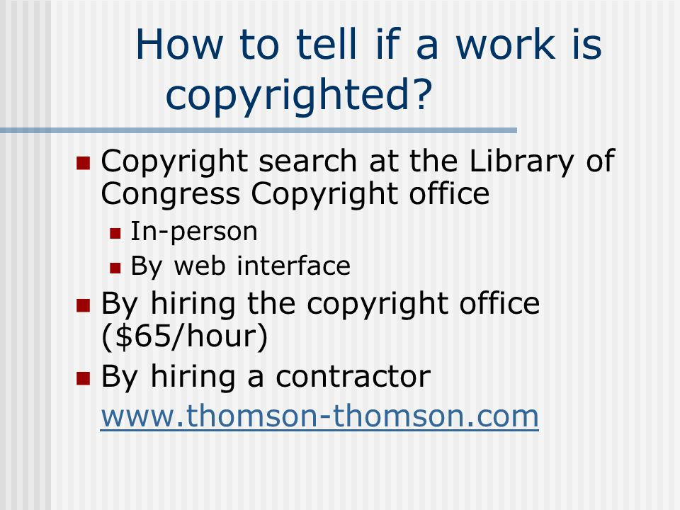 How to tell if a work is copyrighted