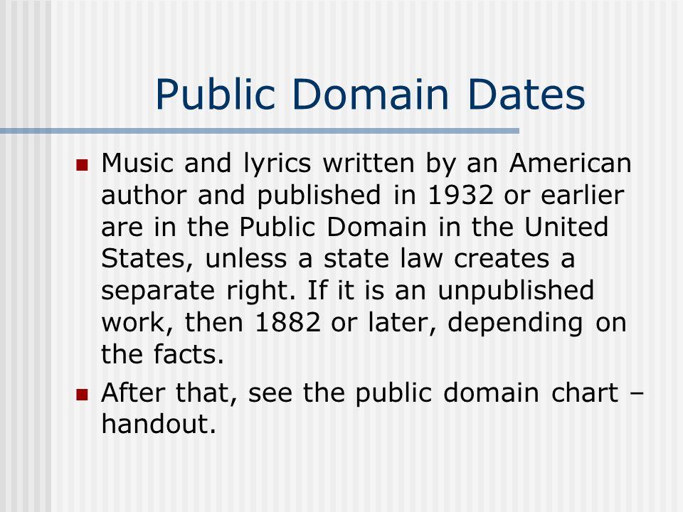 Public Domain Dates