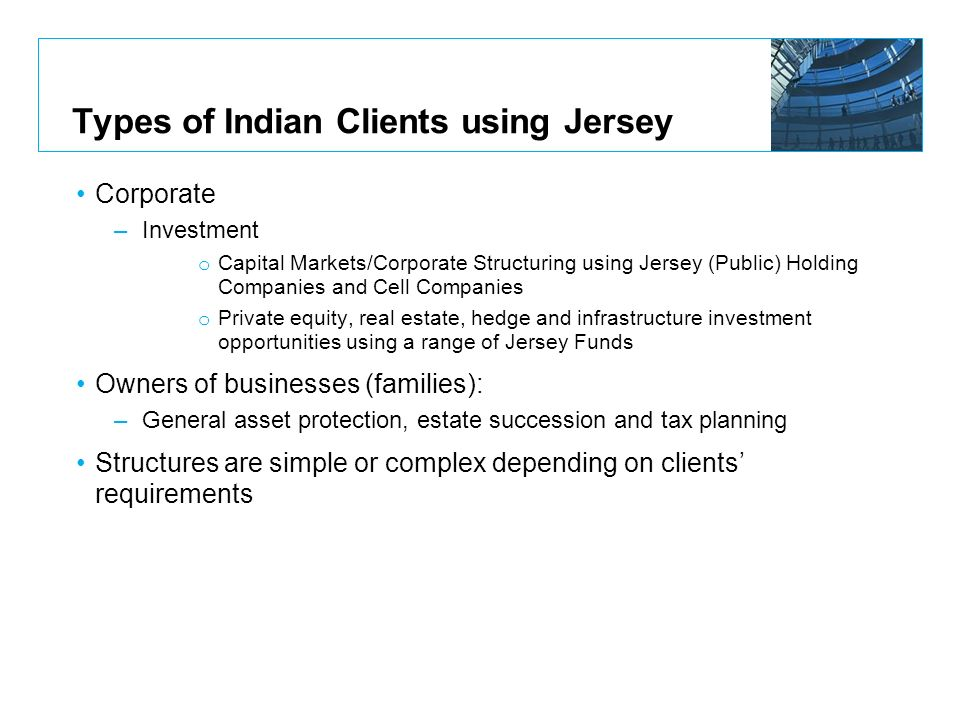 Types of Indian Clients using Jersey