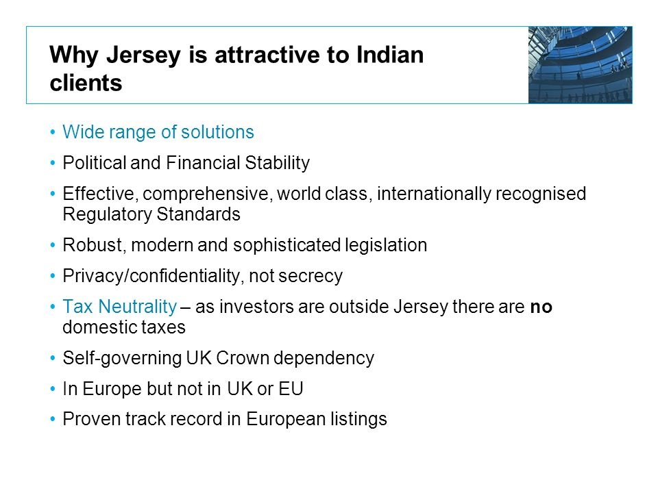Why Jersey is attractive to Indian clients