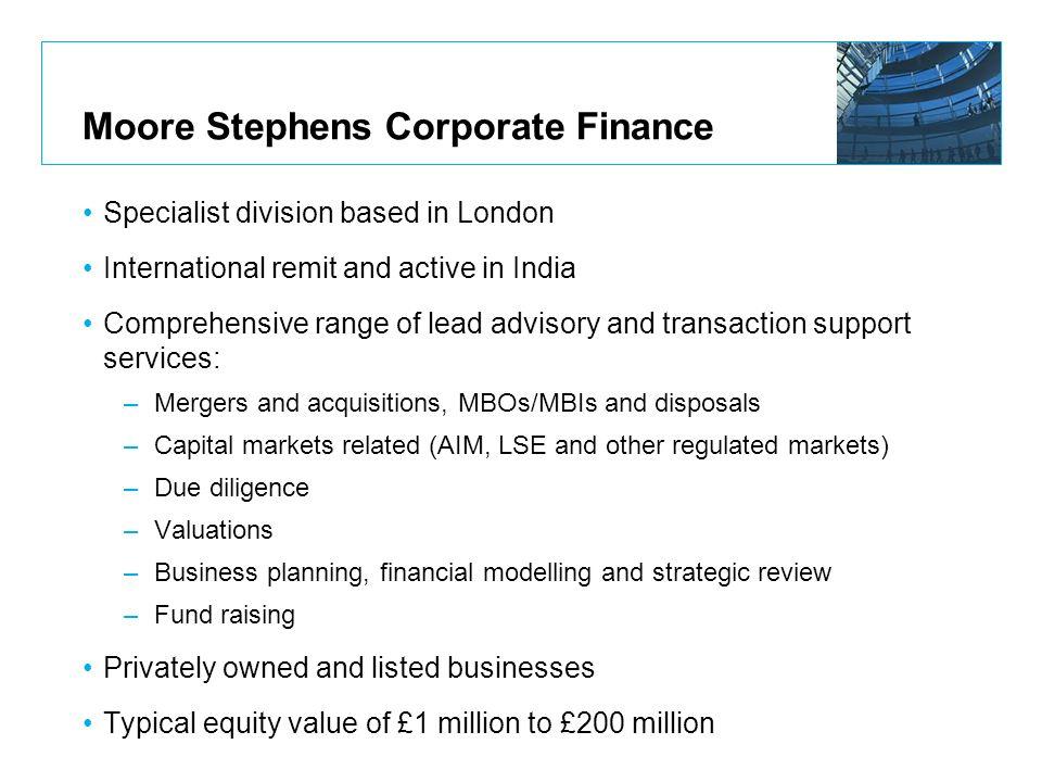 Moore Stephens Corporate Finance