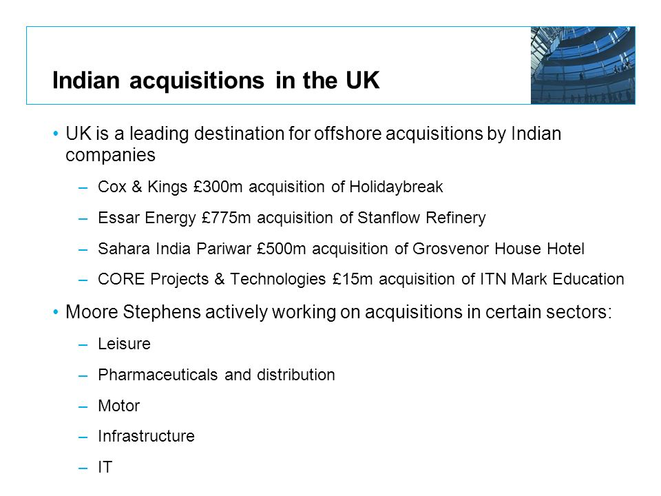 Indian acquisitions in the UK