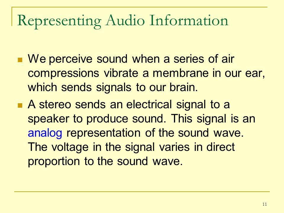 Representing Audio Information