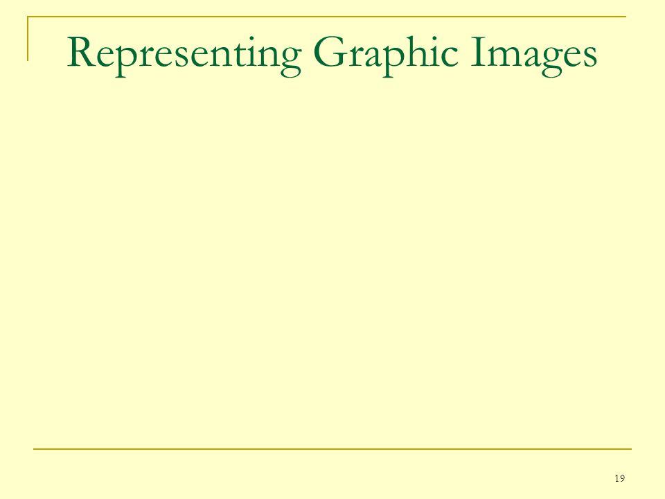 Representing Graphic Images
