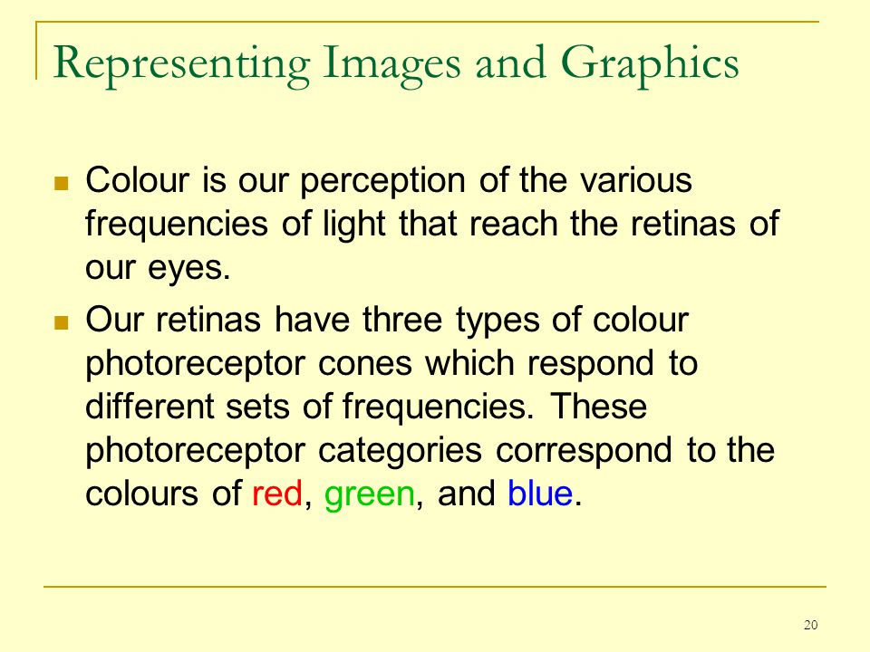 Representing Images and Graphics