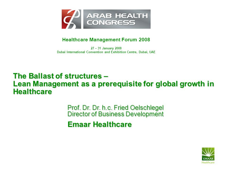 Healthcare Management Forum 2008